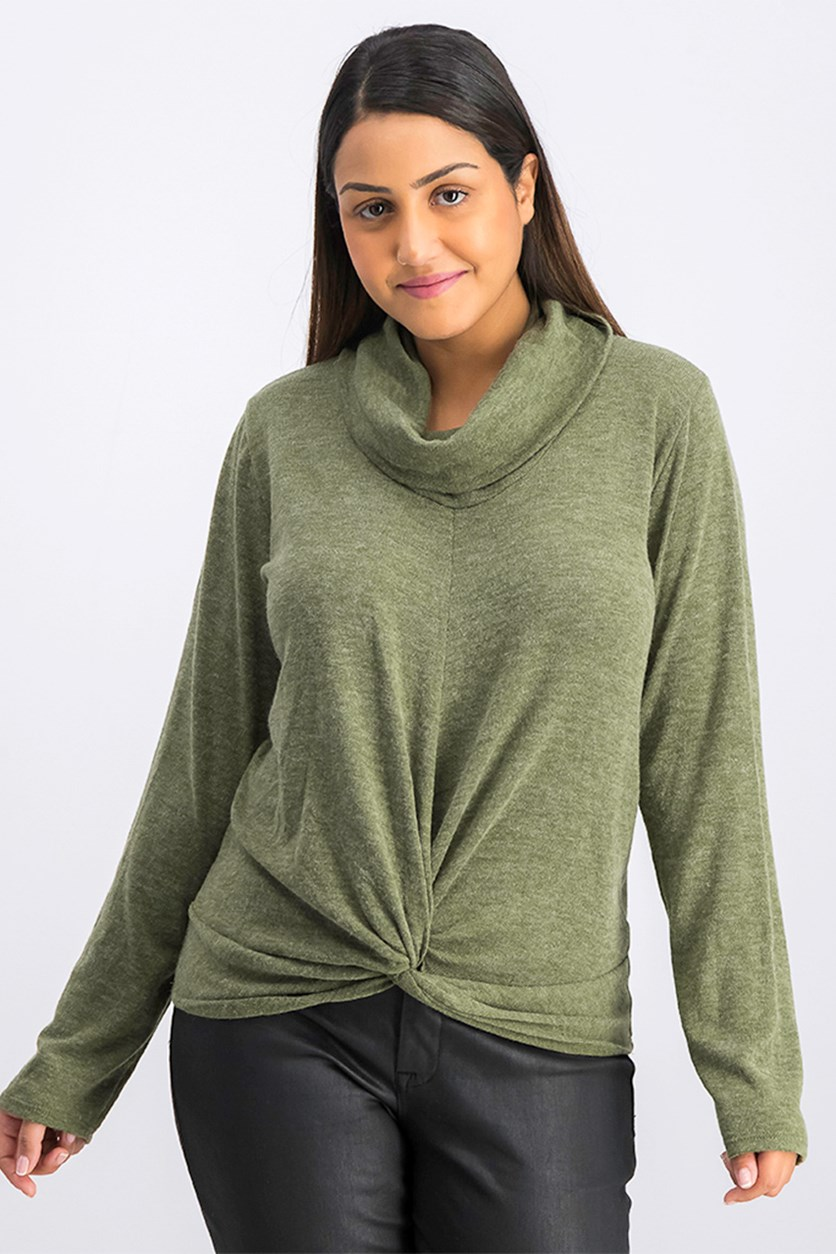 Women's Pullover Sweater, Olive