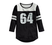 Layer 8 Girl's Colorblocked Varsity T-Shirt, Black