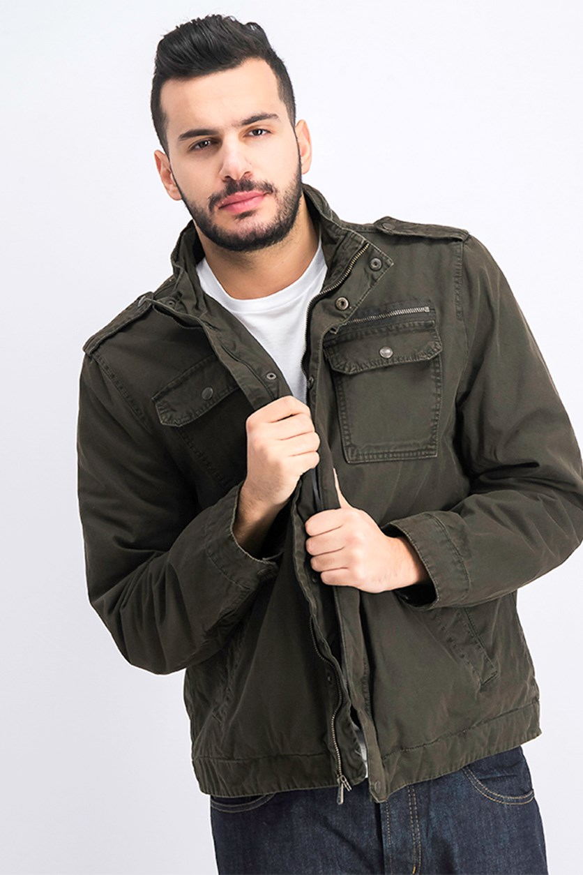 Men's Parka Jacket, Dark Olive