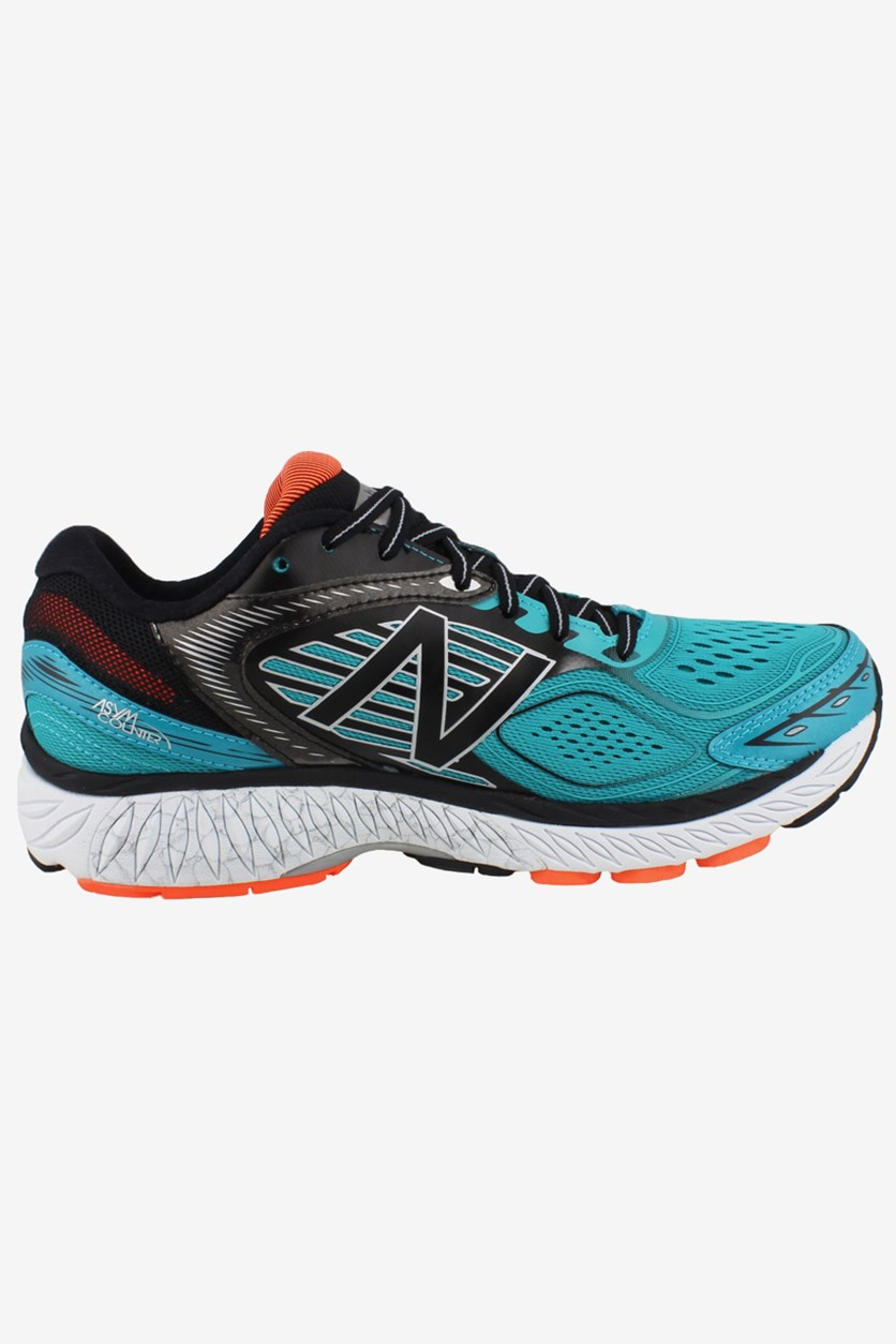Men's Running Shoes, Teal/Black/Orange