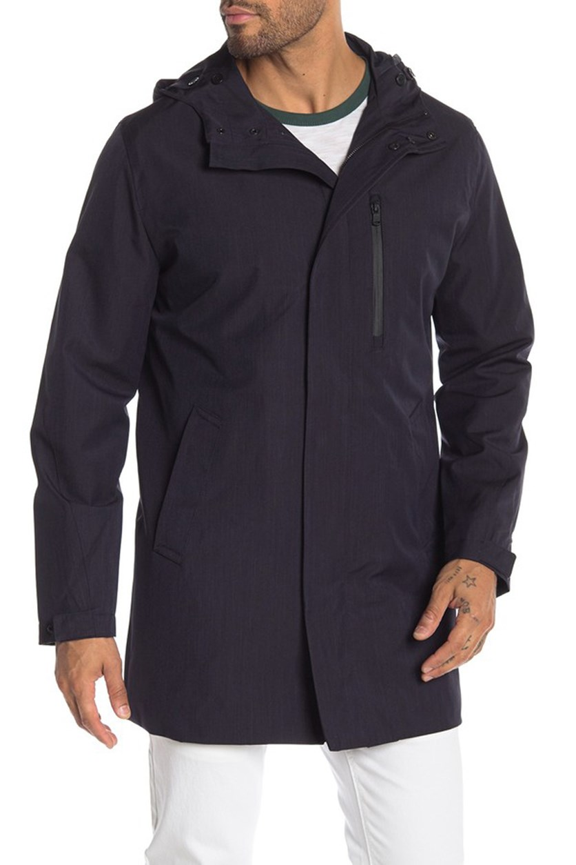 Men's Bellview Hooded Trench Coat, Navy