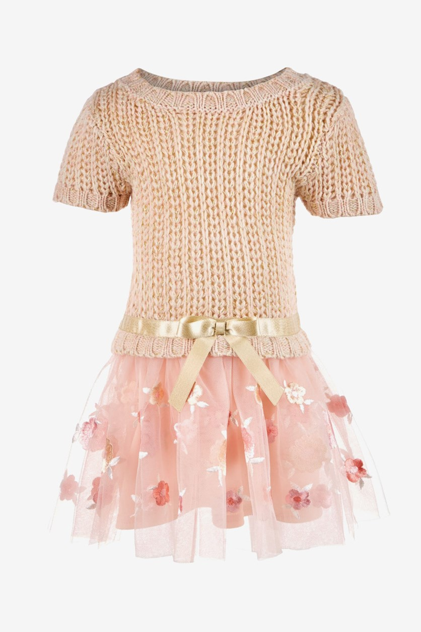 Toddler Girls Sweater Dress, Pink