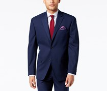 Sean John Men's Classic-Fit Stretch High Plaid Suit Jacket, Navy