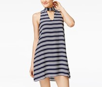 Crystal Doll Women's Striped Shift Dress, Navy/White