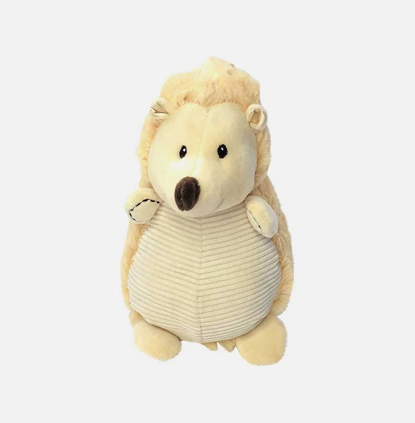Plush Animal with Rattle Clip-on Pram Toy, Natural