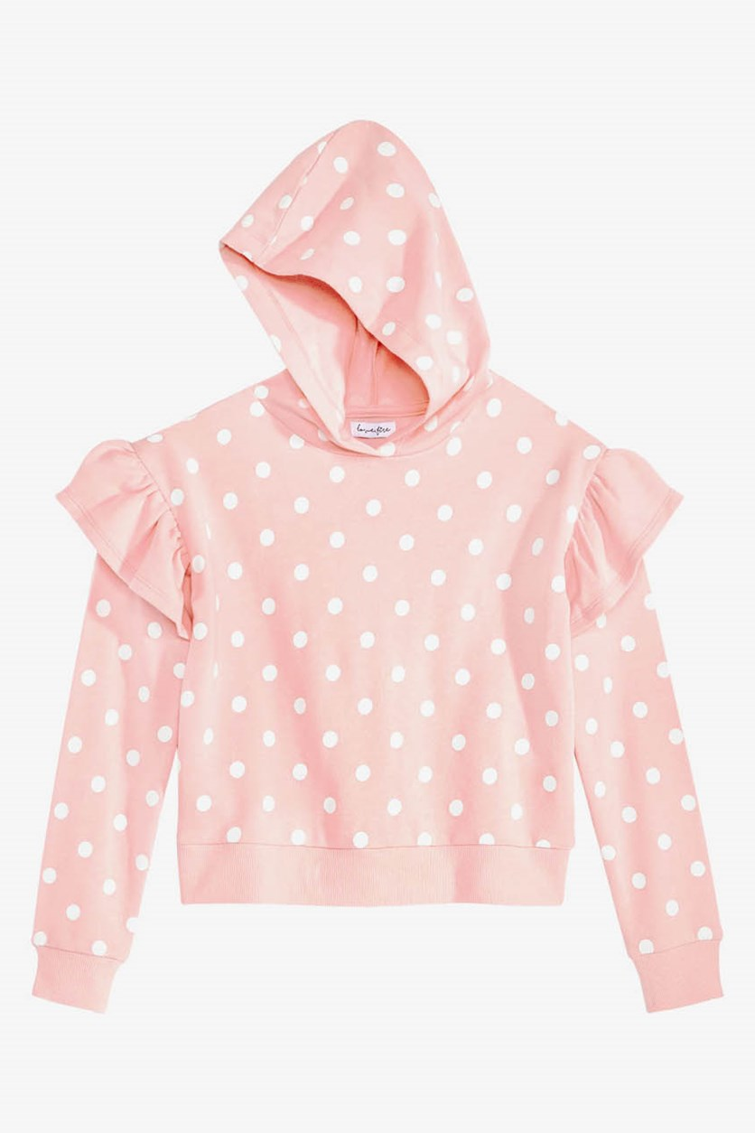 Big Girls Ruffle-Trim Hoodie, Peach
