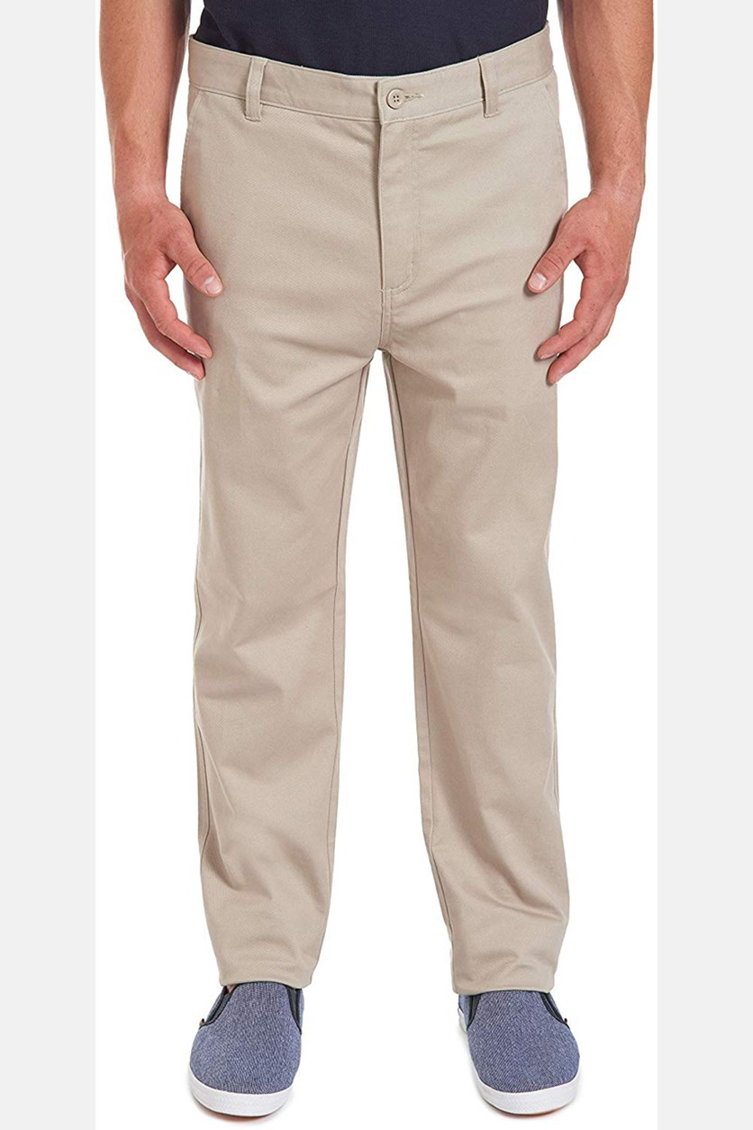 Men's School Uniform Wrinkle Resistant Stretch Pant, Khaki