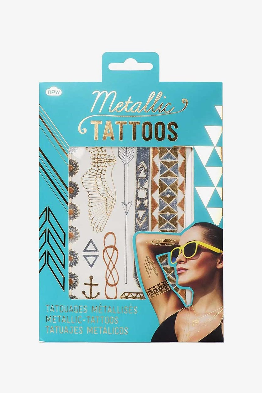 Metallic Jewelry Temporary Tattoos, Gold and Rose Gold