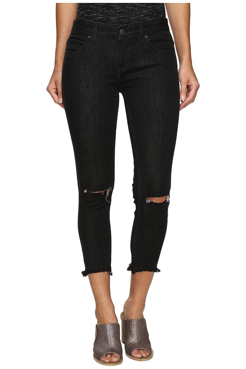Women's Ripped Skinny Jeans, Stark Black