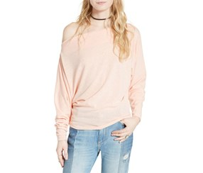 Free People Women's Valencia Off The Shoulder Pullover, Coral