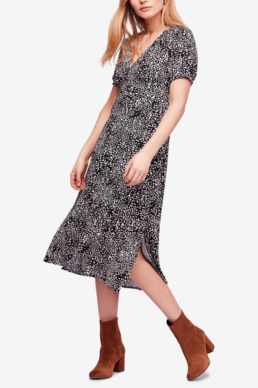 Women's Looking For Love Midi Dress, Black Combo