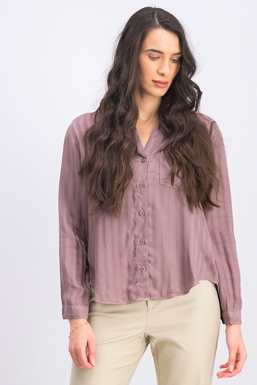 Women's High-Low Top, Mauve