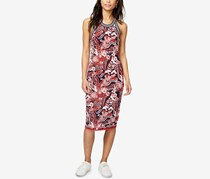 Rachel Roy Women's Sleeveless Knee-Length Bodycon Dress, Navy/Red