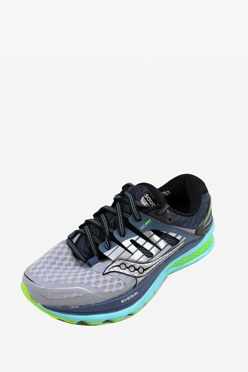 Women's Triumph ISO 2 Running Shoes, Grey/Blue/Slime