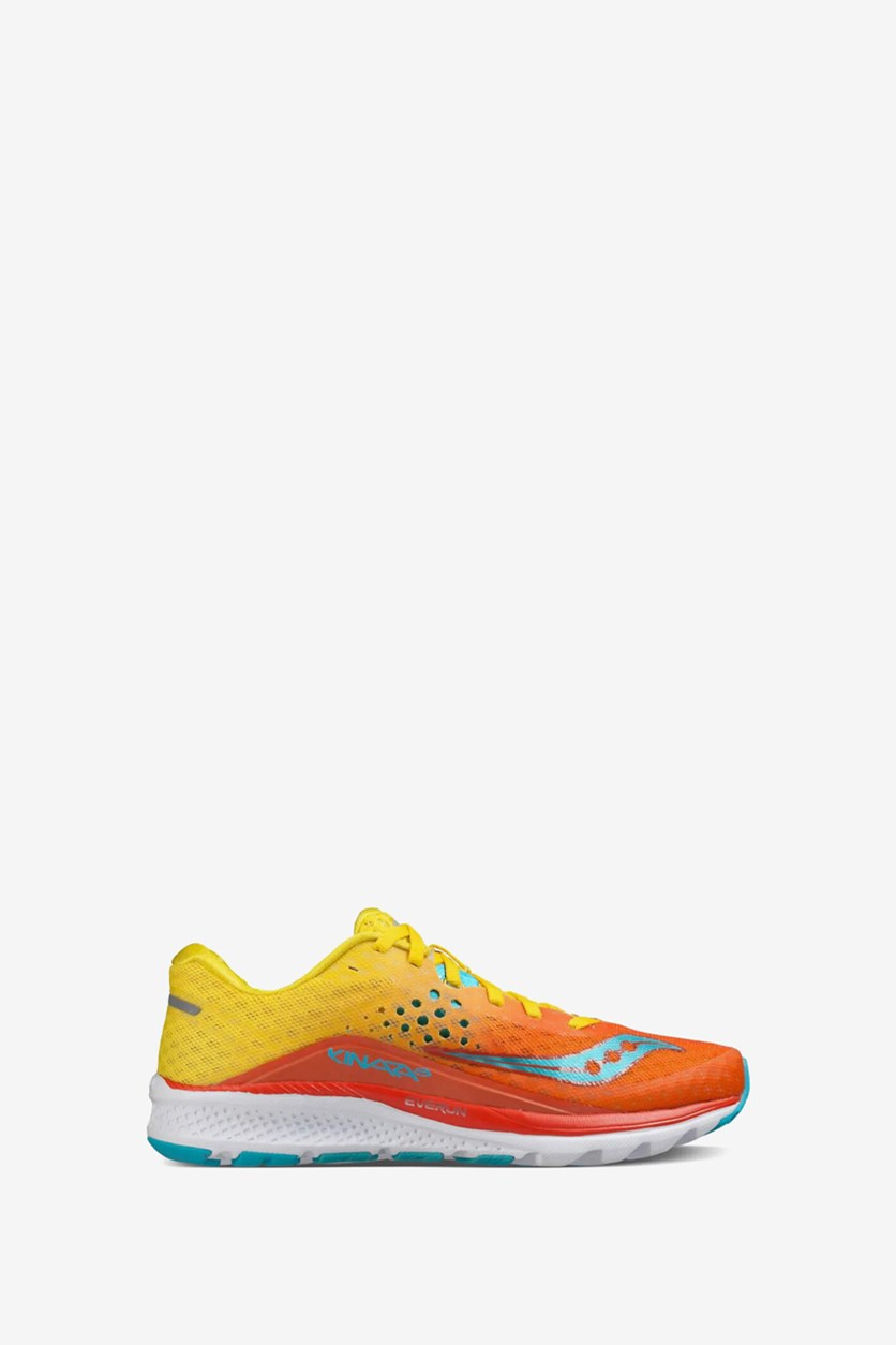 Women's Kinvara 8 Running Shoes, Orange/Yellow/Blue