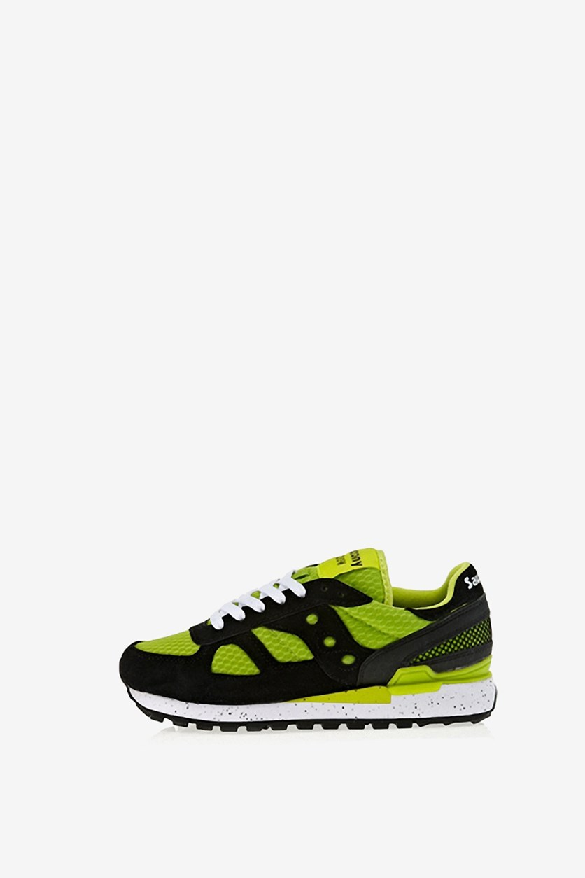 Men's Shadow Running Shoes, Black/Lime