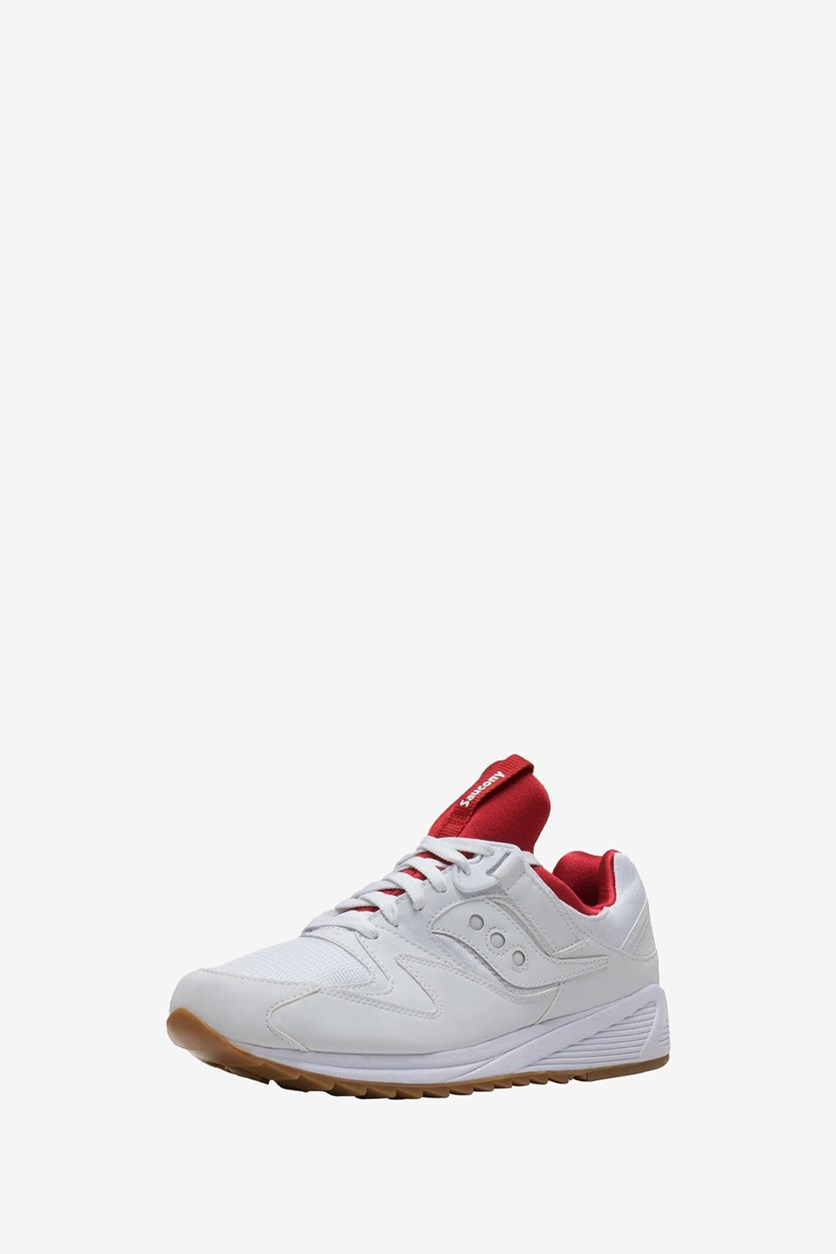 Men's Grid 8500. Sneaker, White/Red