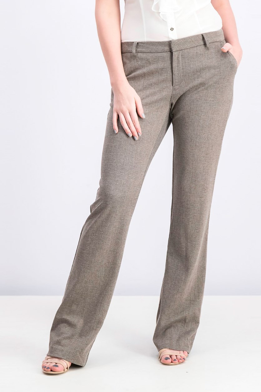 Women's  Bootcut Pants, Brown/Gray