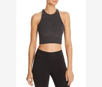 Women's Cropped Fitness Pullover Top, Charcoal