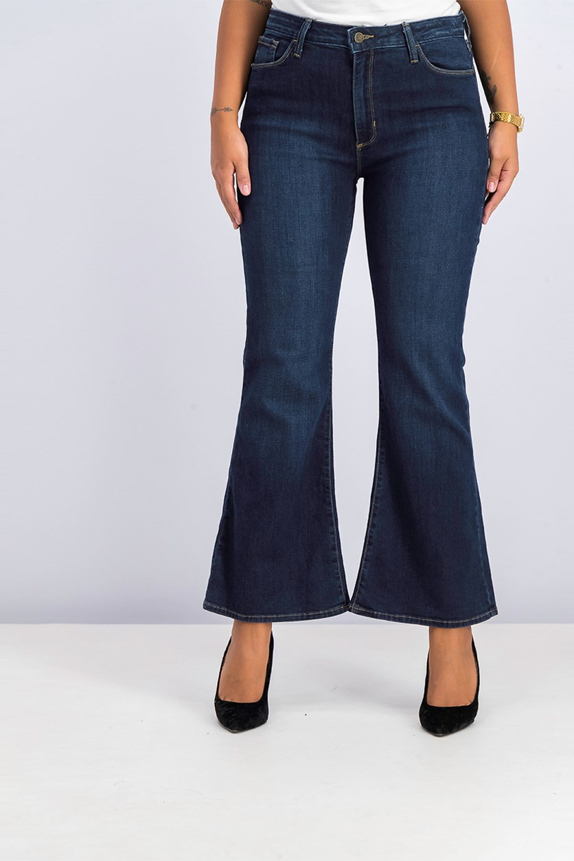 Women's Flared Jeans, Dark Denim