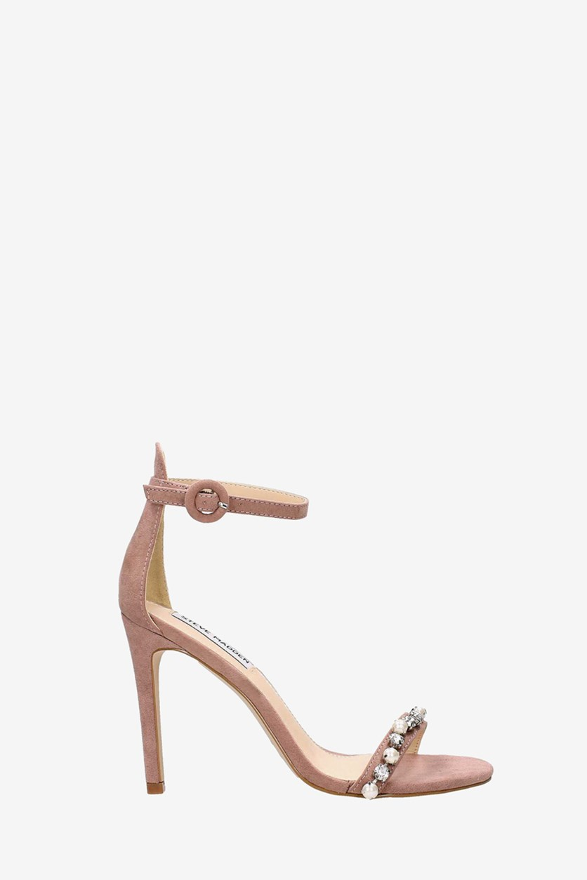 Women's Solitaire Heeled Sandals, Natural
