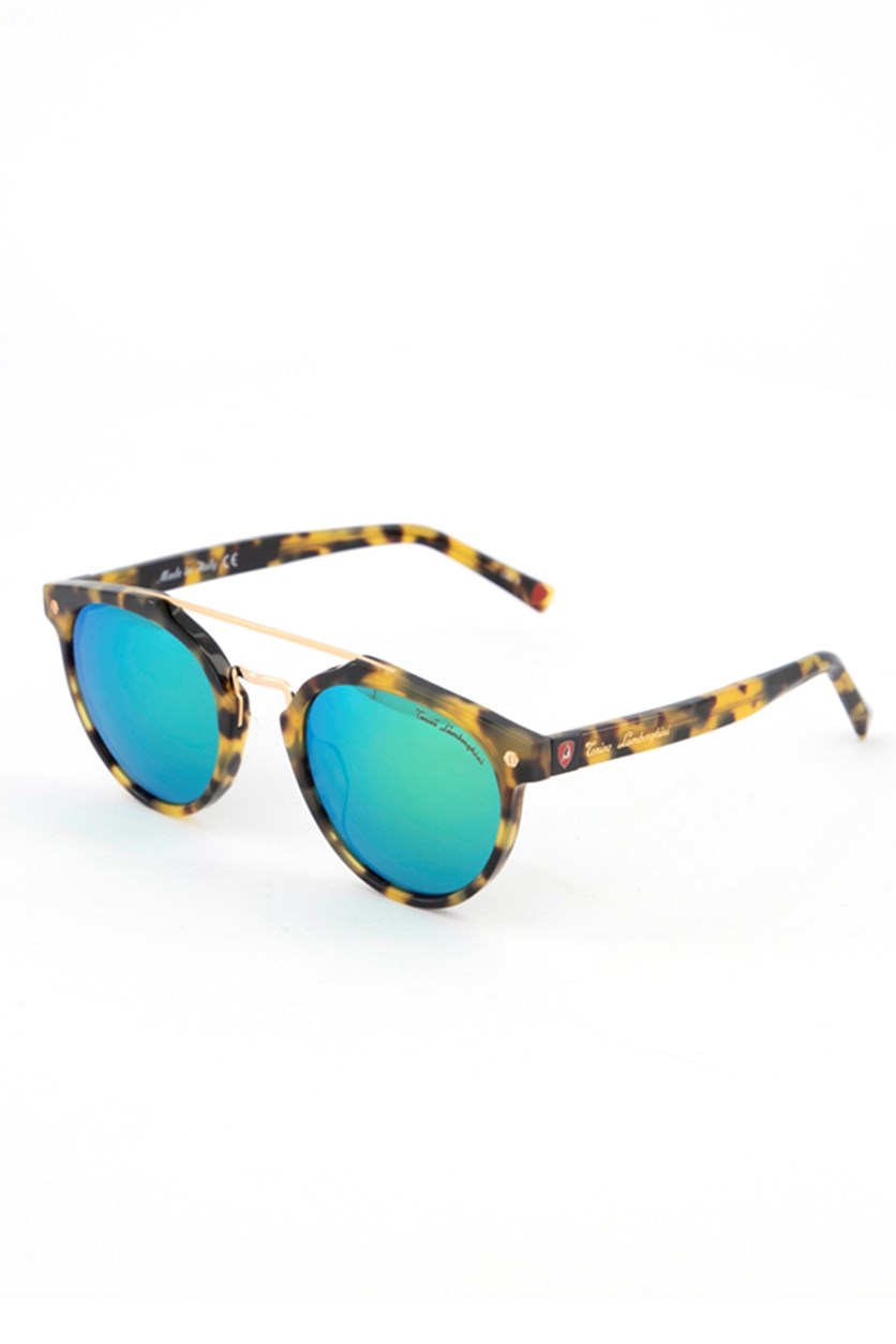 Women's TL569 Clubround Sunglasses, Havana/Green