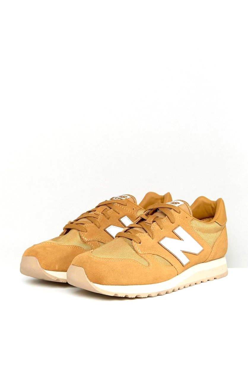 Men's 520 Suede Trainers Shoes, Mustard