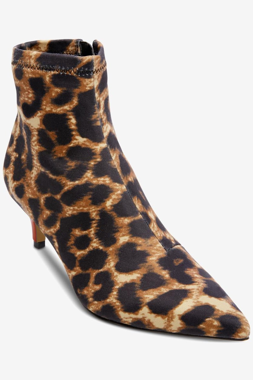 Verona Leopard Ankle Boots, Black Combo