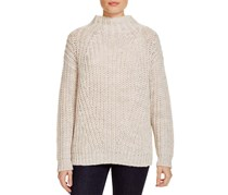 Sanctuary Women's Mock Neck Sweater, Beige