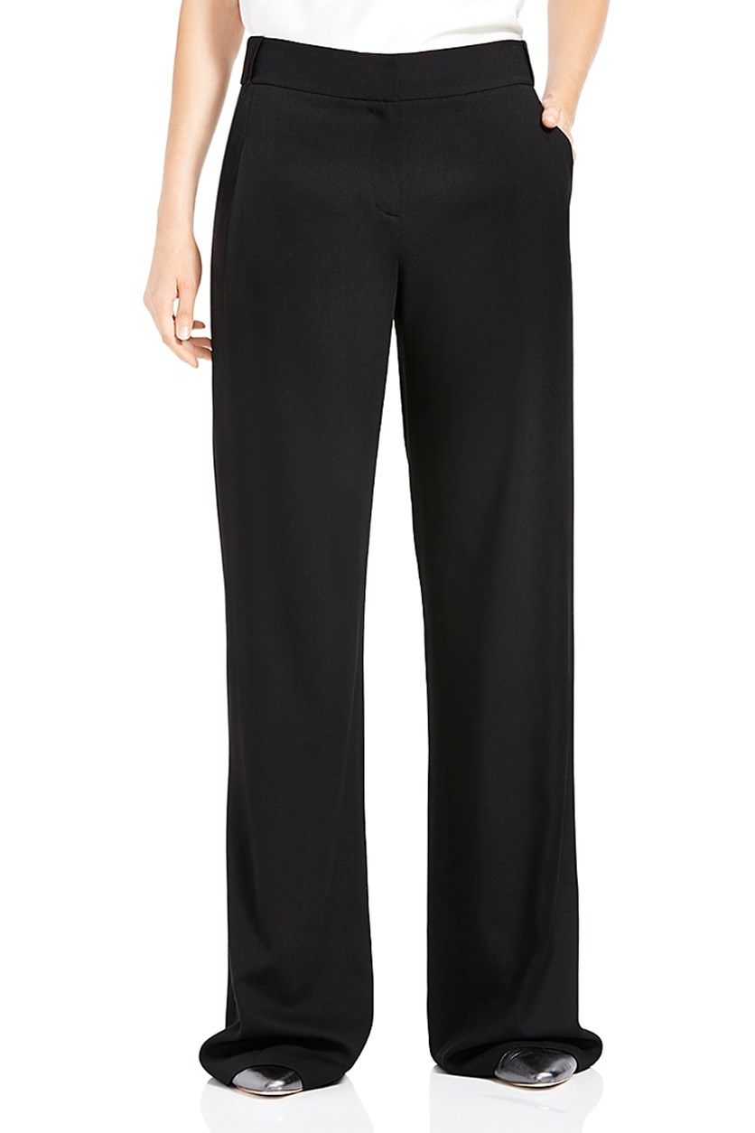 Women's Oversize Wide-Leg Pants, Black