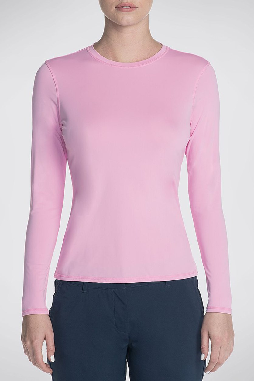 Go Gulf  UPF Long Sleeve Base Layer Top, Light Pink