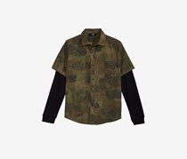 Toddler Boys Thornton Camo-Print Shirt, Camouflage