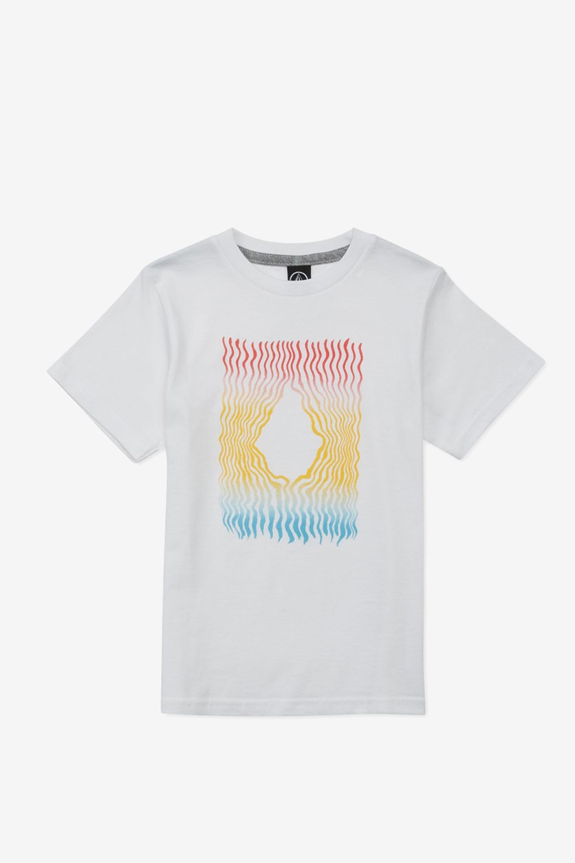 Boy's Wiggly Stone Graphic T-Shirt, White