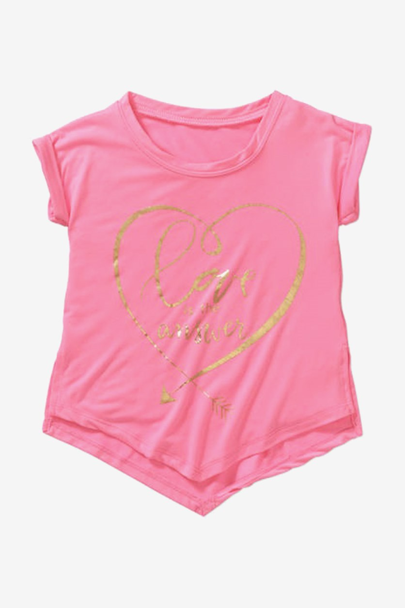 Toddler Girl's Short Sleeve Top, Pink Candy