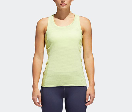 Adidas Women's Running Tank Top, Lime Green