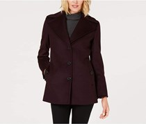 Calvin Klein Women's Plus-Size Single-Breasted Wool Coat, Chianti