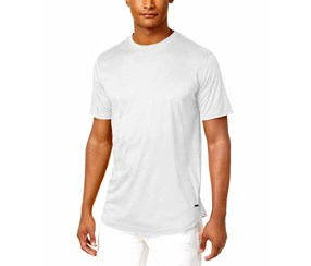 Sean John Men's Faux Suede Basic T-Shirt, White