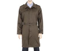 London Fog Men's Belted Lightweight Trench coat, Olive