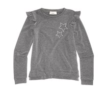 Pink Republic Kids Girl's  Embellished-Star Top, Grey