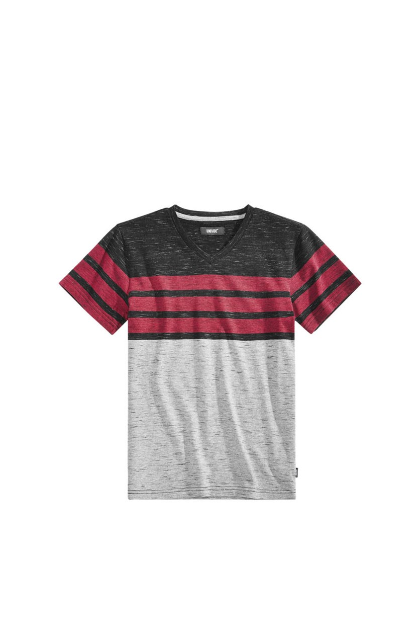 Big Boys Streaky Stripe T-Shirt, Black Combo