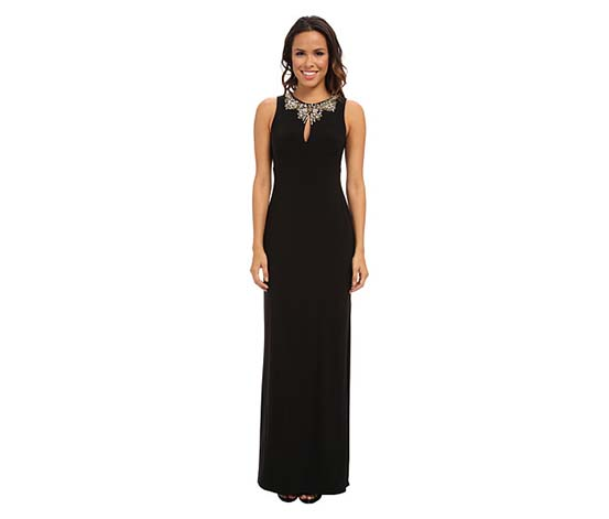 Vince Camuto Women's Embellished Stretch Gown, Black
