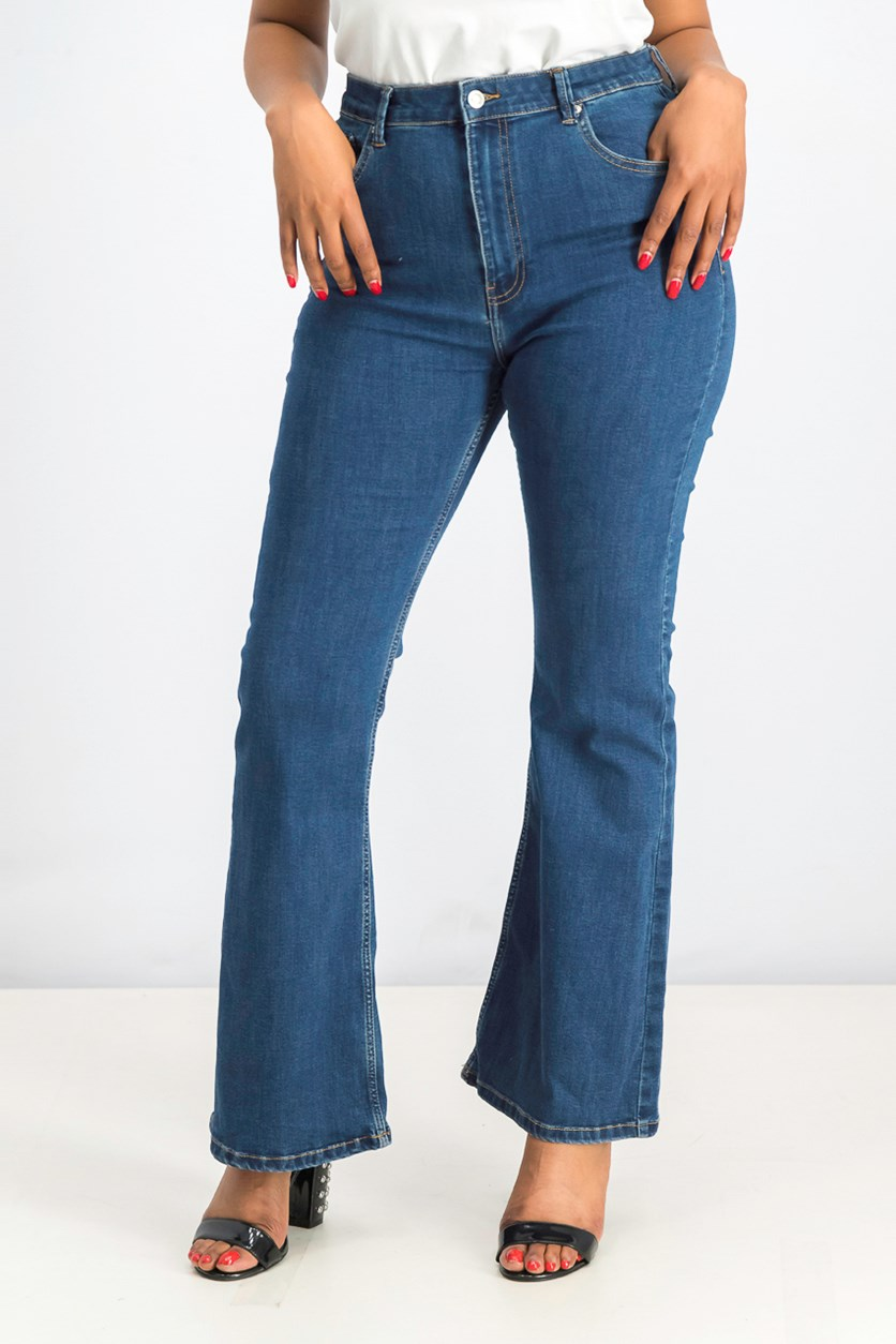 Women's Flared Jeans, Blue