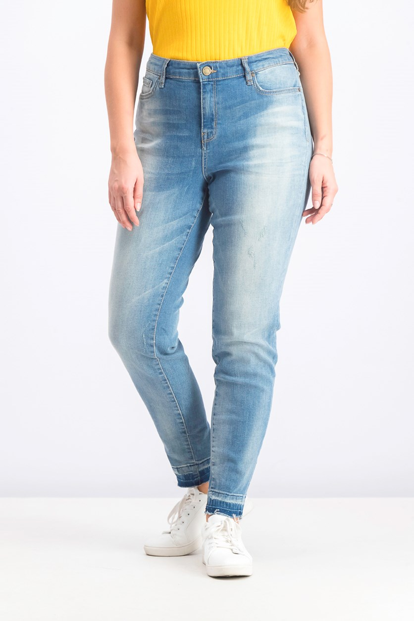 Faded Skinny Jeans, Blue Wash