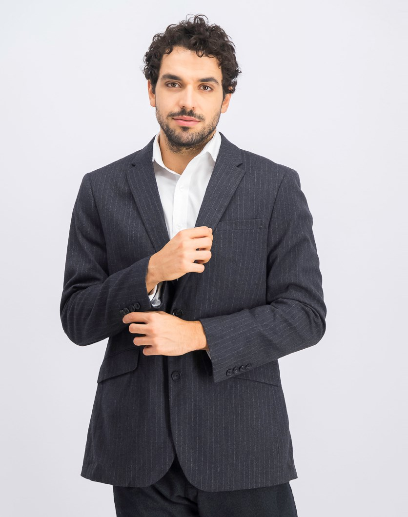 Men's Slim Fit Heather Blazer, Charcoal