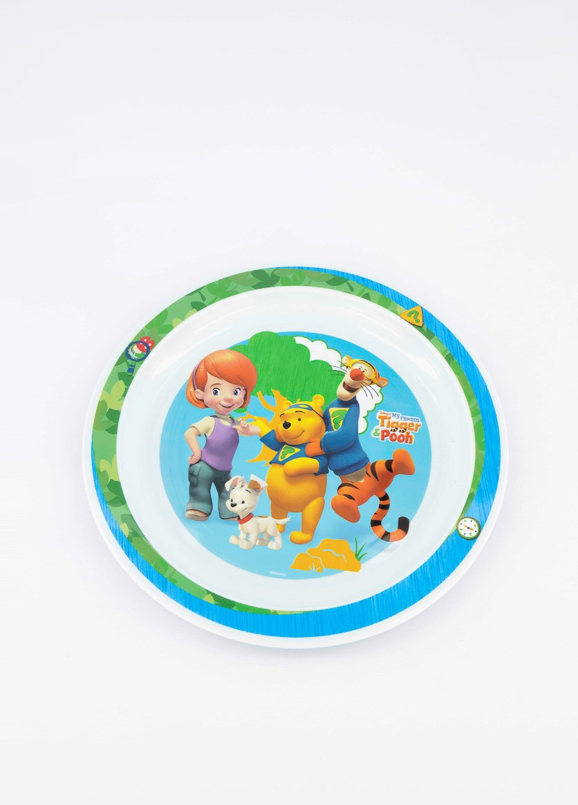 Winnie The Pooh Polly Plate, Blue/Green Combo