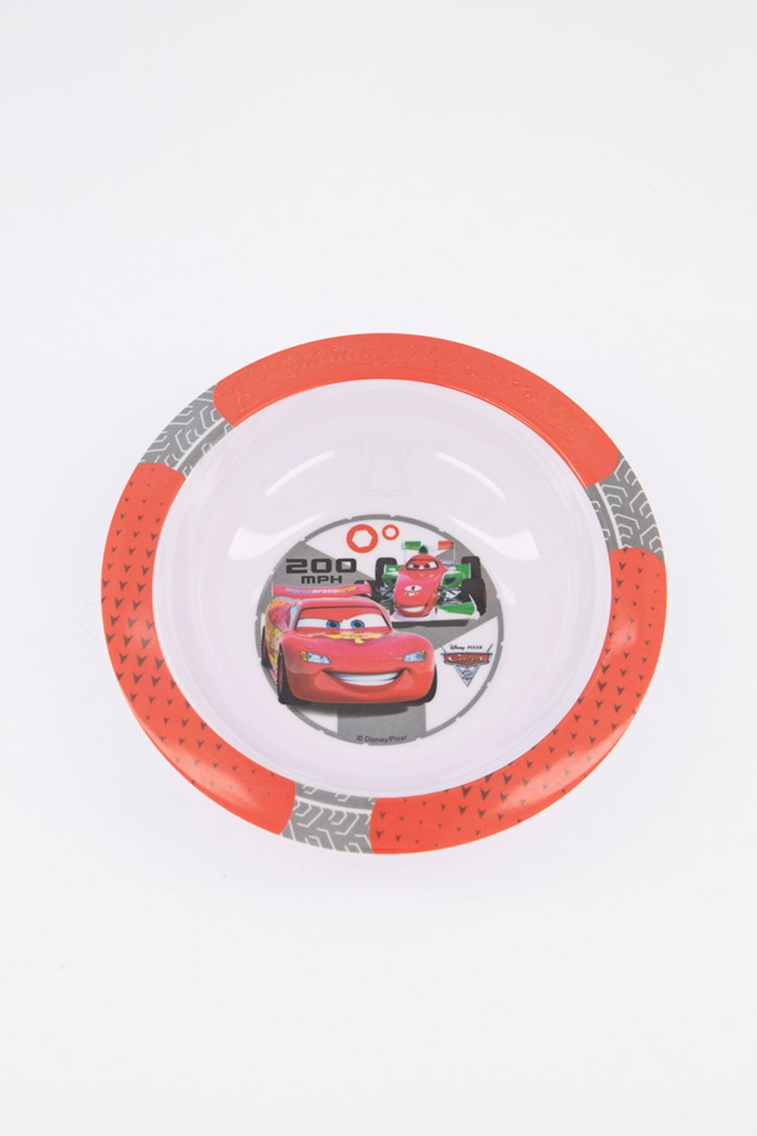 Cars 2 Wheels Embossed Bowl, Red/White