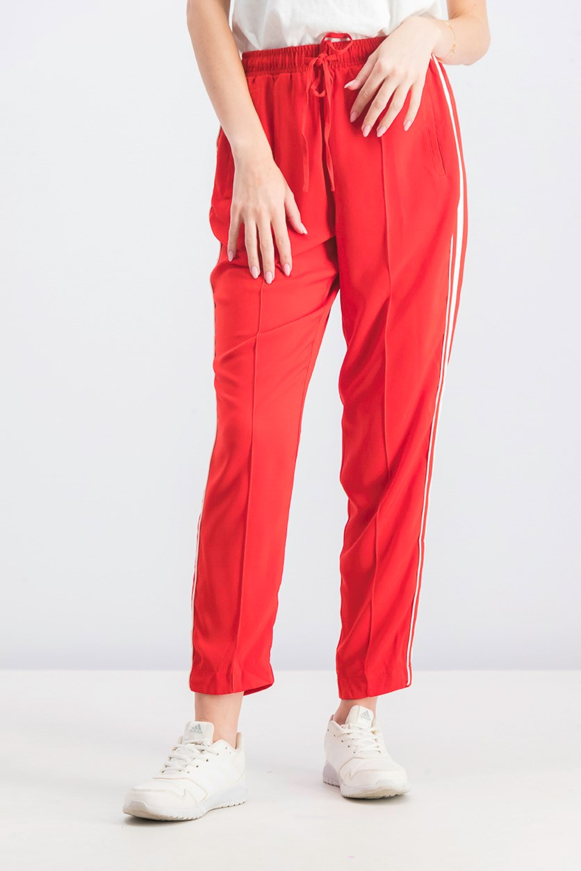 Women's Harem Trouser With Side Striped, Red