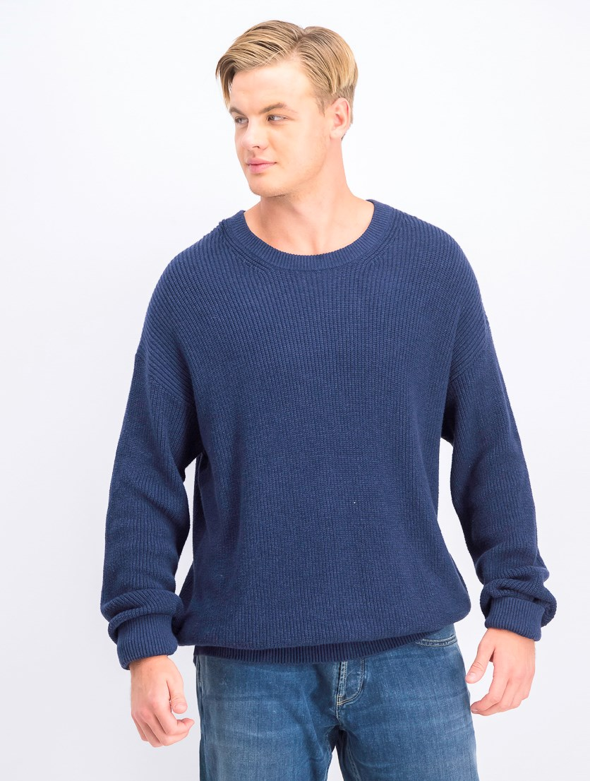 Mens Long Sleeve Sweater, Navy