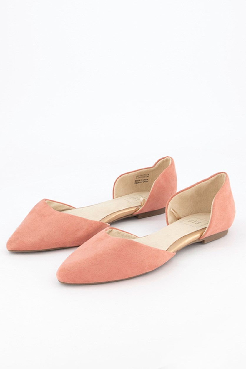 Women's Dorsay Flat Shoes, Dusty Rose