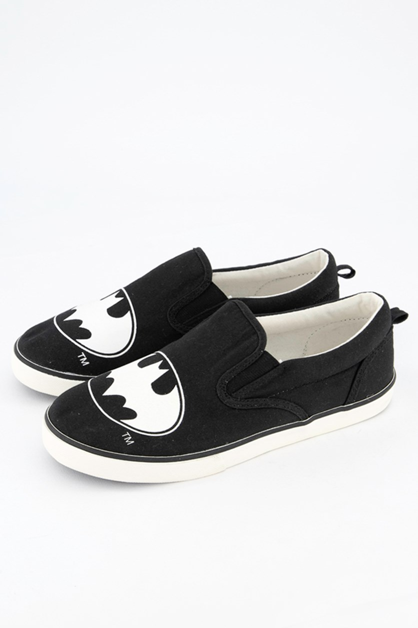 Kid's Boys Batman Slip On Shoes, Black